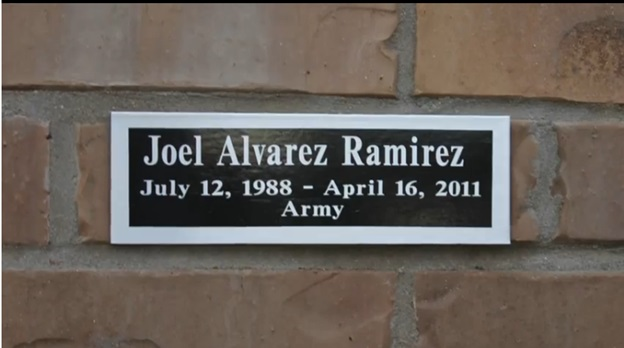 PFC Joel Ramirez-Memorial Wall