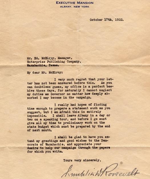 Roosevelt Letter
