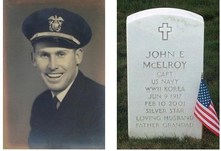 John Edwin McElroy-gravesite marker