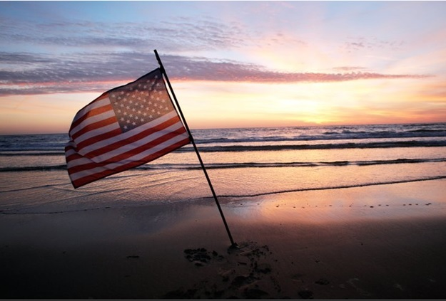 Sunrise on Omaha Beach at Normandy, France.  June 6, 2014 (AP Photo/Thibault Camus)