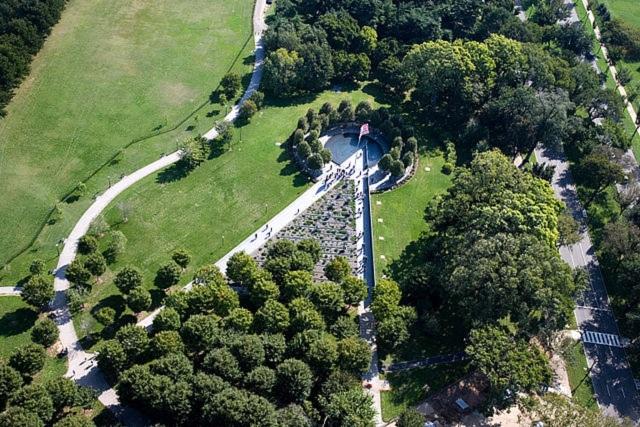 Aerial View of the Korean War Veterans Memorial Washington, D.C.