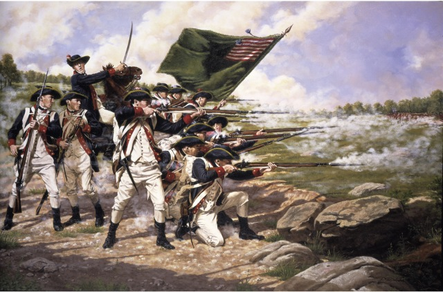 The Delaware Regiment at the Battle of Long Island Brooklyn, New York -- August 27, 1776