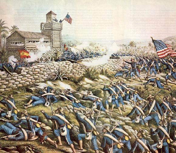 Charge of the 24th and 25th Colored Infantry and Rescue of the Rough Riders at San Juan Hill July 2, 1898