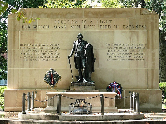 The Tomb of the Unknown Revolutionary War Soldier  Philadelphia, Pennsylvania