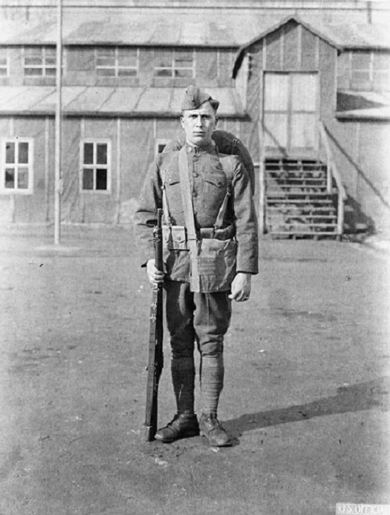 WWI American soldier, Le Mans, France
