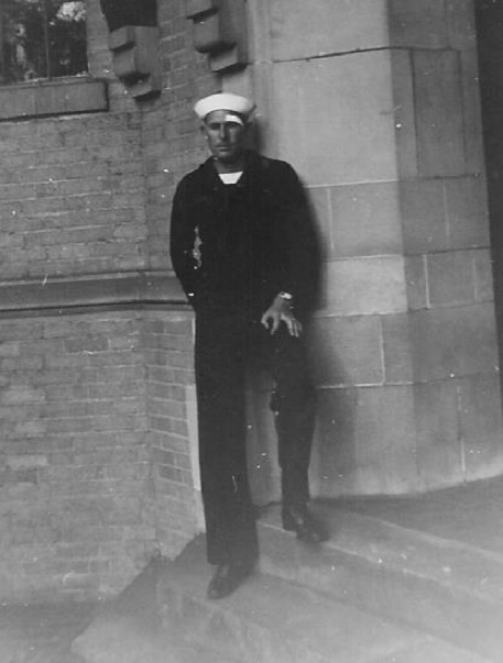 Seaman McElroy in Naval Training at Northwestern University, 1942