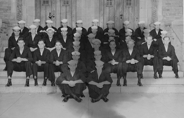 Seaman McElroy - Northwestern University , 1942 (Back row, 3rd from the left). Appointed Seaman Apprentice on April 11, 1942, the training involved a one-month period of instruction.