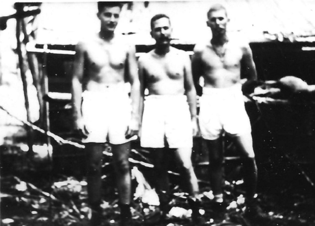 Skippers Webb, Ruff, and McElroy at Tulagi (1943)