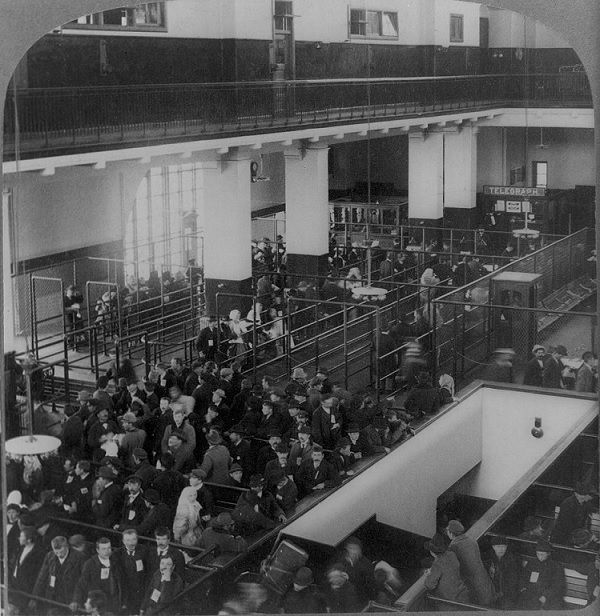 Immigrants Awaiting Inspection  1904 Library of Congress Prints and Photographs Division