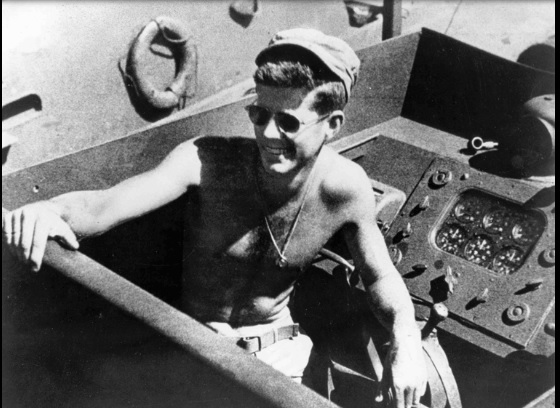 JFK and PT-109 Navy Photo
