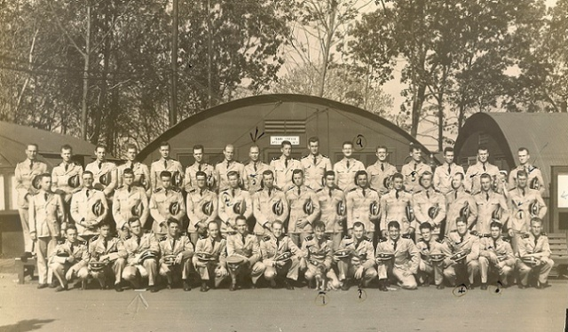 MTBTC Graduating Class (Hut 35) Oct 7 1942 LTJG John McElroy, 2nd row, 1st on Right