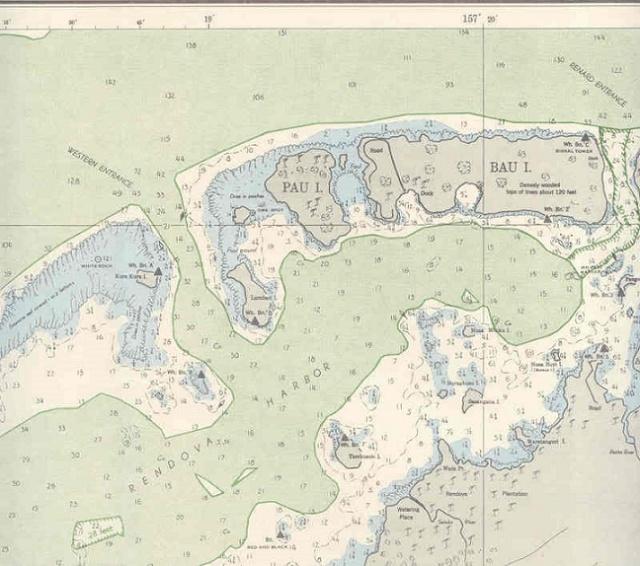 Rendova Habor Chart 1943