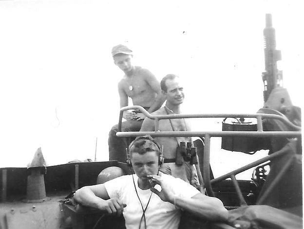 Silver (Radar Officer) Tiberti (Gunner's Mate) Spivey (Motor Mac) PT-161