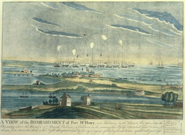 Bombardment of Fort McHenry by the British September 13, 1814