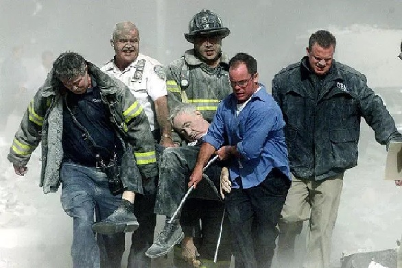 Father Mychal Judge, the New York Fire Department's beloved chaplain became the most famous victim of the attacks. Judge entered the North Tower after administering Last Rites to people lying on the streets. Shannon Stapleton (Reuters)