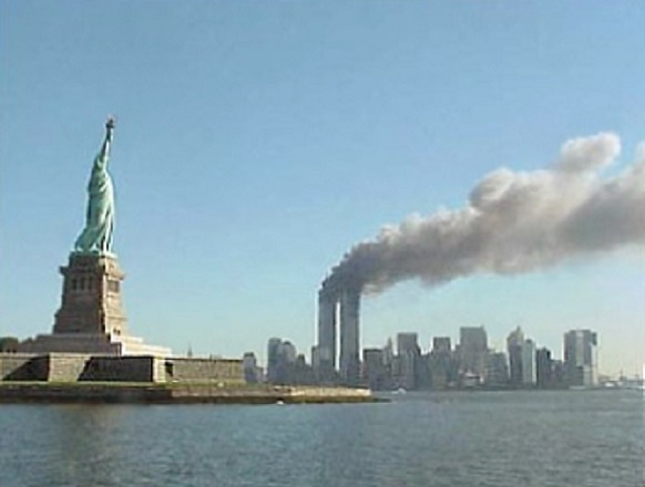 World Trade Center towers following the attack on 9-11