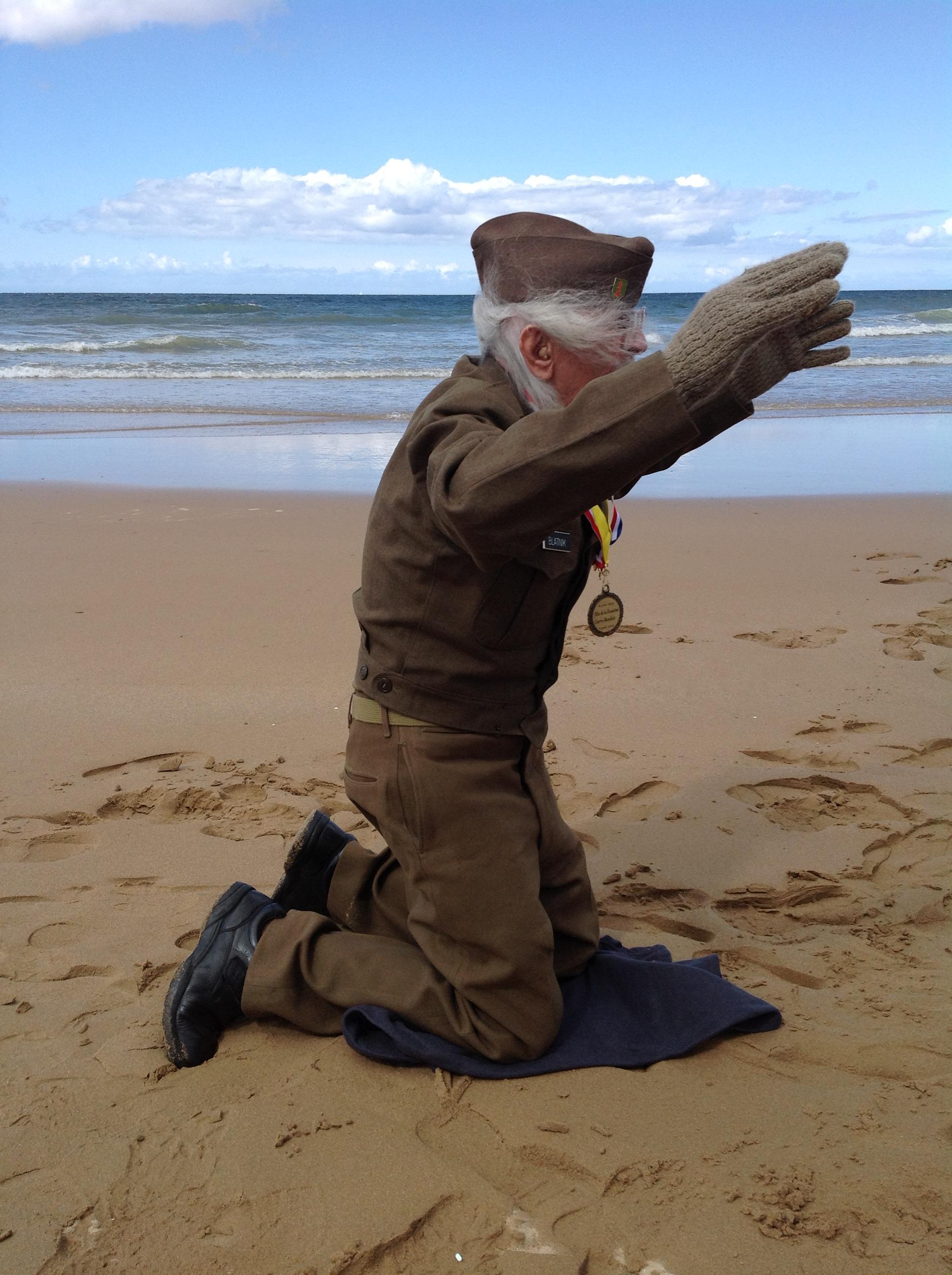 Sgt Maj Blatnik-Omaha Beach