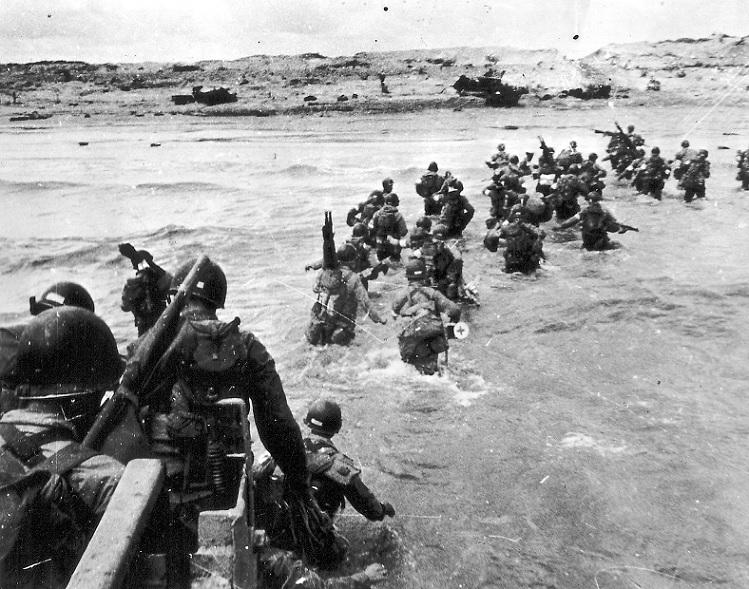 U.S. Soldiers Landing on Utah Beach