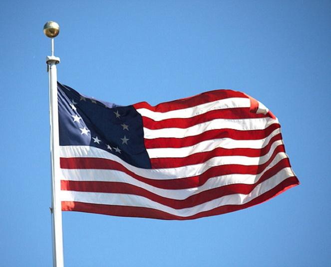 Flag of Thirteen Colonies 1777-1795